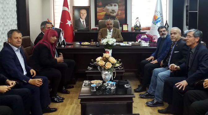 HGC'den yeni seçilen başkanlara tebrik ziyareti