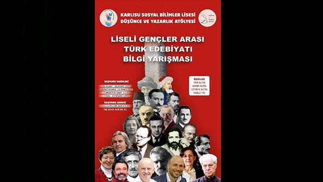 """Liseli Gençler, """"Türk Edebiyatı Bilgi Yarışmasında"""" buluştu"""
