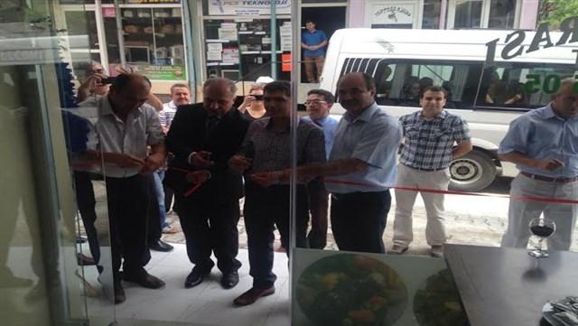 """Samandağ'da """"Gönül Sofrası Ev Yemekleri"""" adlı işletmenin açılışı yapıldı"""