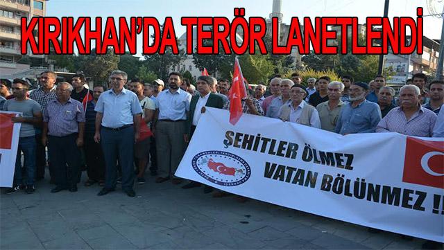 Kırıkhan'da terör lanetlendi