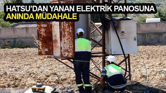 HATSU yanan elektrik panosuna müdahale etti
