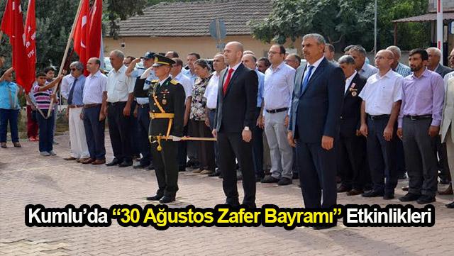 """Kumlu'da """"30 Ağustos Zafer Bayramı"""" etkinlikleri"""