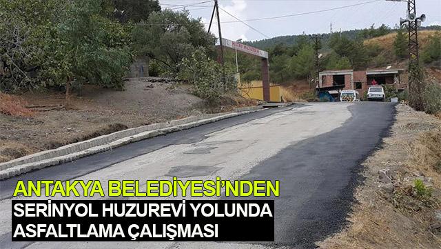 Antakya Belediyesi Serinyol Huzurevi yoluna asfalt çalışmaları yapıyor