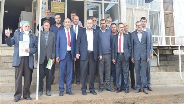 Saadet Partisi adayları Hassa'da vatandaşlarla bir araya geldi