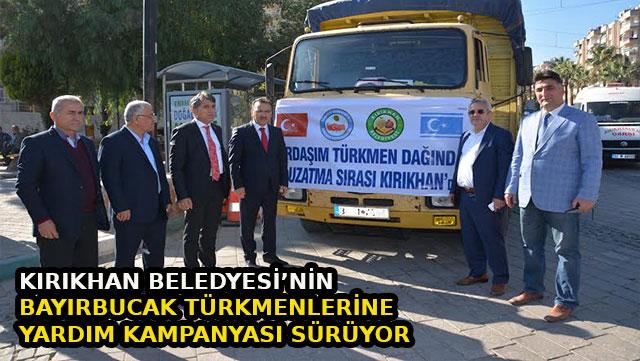 Kırıkhan Belediyesi'nin Bayırbucak Türkmenlerine yardım kampanyası sürüyor