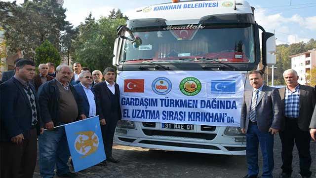 Kırıkhan Belediyesi'nden Bayırbucak Türkmenlerine yardım kampanyası devam ediyor