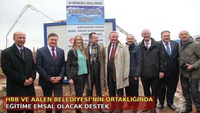 HBB ve Aalen Belediyesi'nin ortaklığında eğitime destek