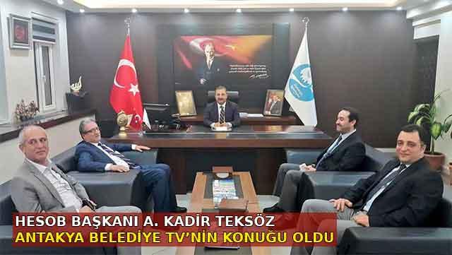 HESOB Başkanı Teksöz Antakya Belediye TV'ye konuk oldu