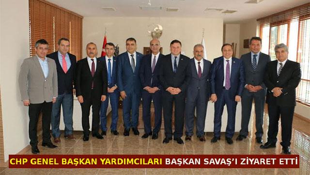 CHP Genel Başkan Yardımcıları Lütfü Savaş'ı ziyaret etti