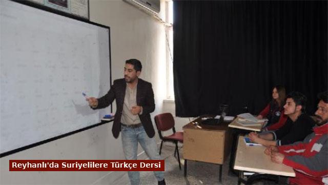 Reyhanlı'da Suriyelilere Türkçe dersi