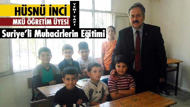 Suriye'li Muhacirlerin Eğitimi