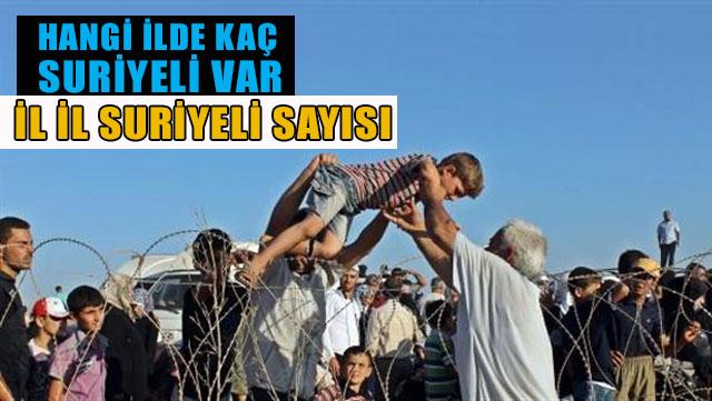Türkiye'de hangi İlde kaç Suriyeli olduğunu biliyormusunuz?
