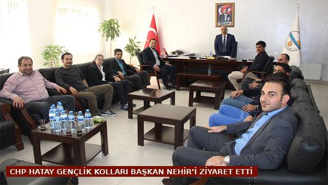 CHP Gençlik Kolları Başkan Nehir'i ziyaret etti