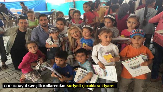 CHP Hatay İl Gençlik Kolları'ndan Suriyeli çocuklara ziyaret