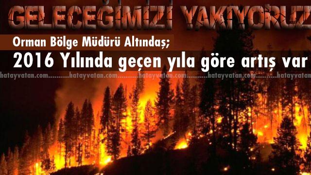 Orman Bölge Müdürü Altındaş'dan önemli açıklamalar 'Geleceğimiz yakıyoruz'