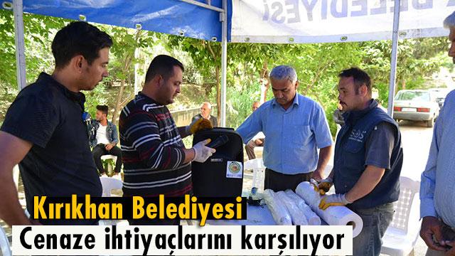 Kırıkhan Belediyesi Cenaze ihtiyaçlarını karşılamaya başladı