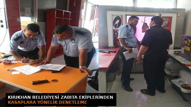 Kırıkhan Belediyesi Zabıta Ekipleri'nden Kasaplara yönelik denetleme