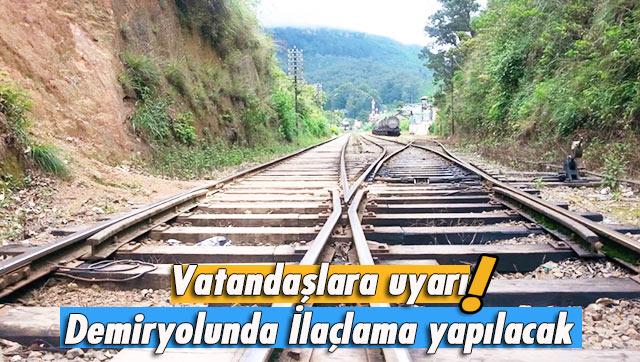 Tren yolu hattına yakın olanlar dikkat