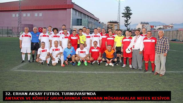 32. Erhan Aksay Futbol Turnuvası'nda oynanan müsabakalar nefes kesiyor