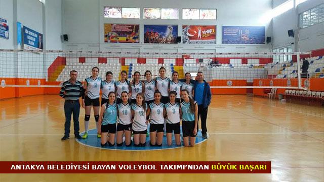 Antakya Belediyesi Bayan Voleybol Takımı'ndan büyük başarı