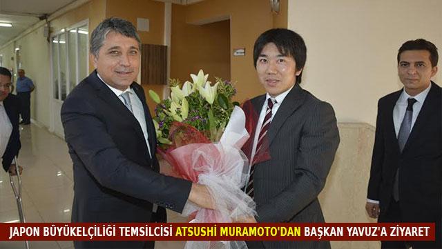 Japon Büyükelçiliği temsilcisi Atsushi Muramoto'dan Başkan Yavuz'a ziyaret