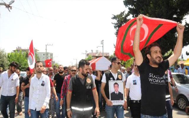Kahraman Gümrük Muhafaza Memuru Umut'u 10 bin kişi uğurladı