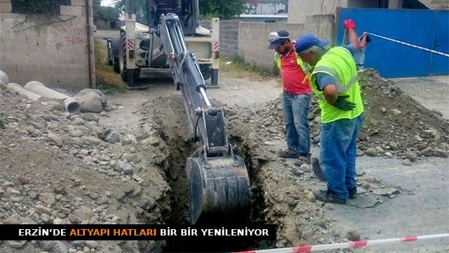 Erzin'de altyapı hatları yenileniyor
