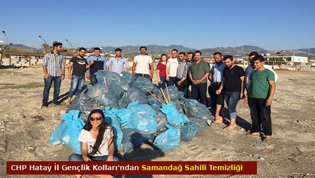 CHP Hatay İl Gençlik Kolları'ndan Samandağ sahili temizliği