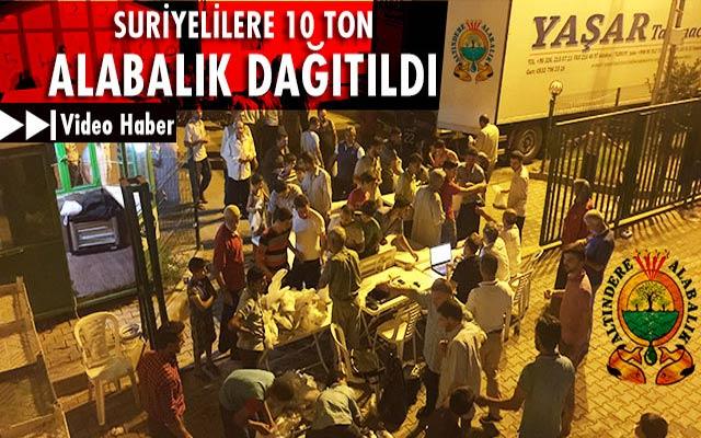 Kırıkhan'daki Suriyelilere 10 Ton Alabalık dağıtıldı