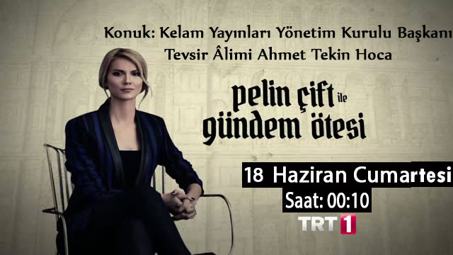 Ahmet Tekin Hoca Pelin Çift ile 'Gündem Ötesi' Programının konuğu olacak