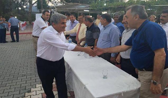 Başkan Yaman Muhtarla bir araya geldi