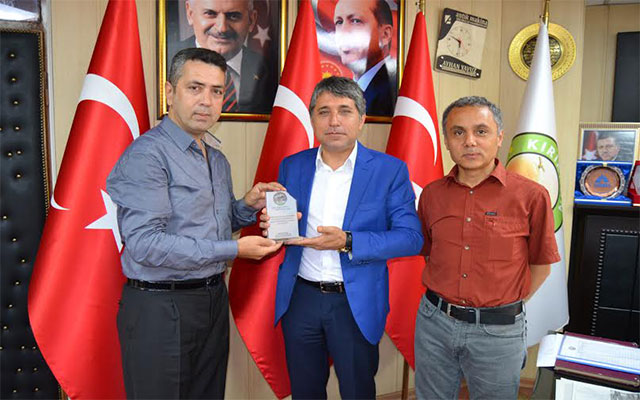 TTKD Hatay Şube Başkanından Başkan Yavuz'a anlamlı ziyaret