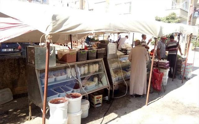 Antakya Semt Pazarlarında satılan süt ve süt ürünleri artık daha güvenli