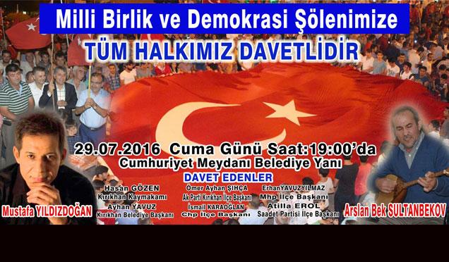 Mustafa Yıldızdoğan ve Arslanbek Sultanbekov yarın Kırıkhan'da