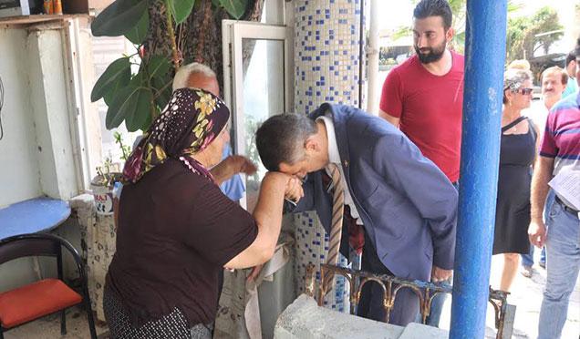 CHP Hatay Milletvekili Topal Kıyı Kenar mağduru şehit ailesini ziyaret etti