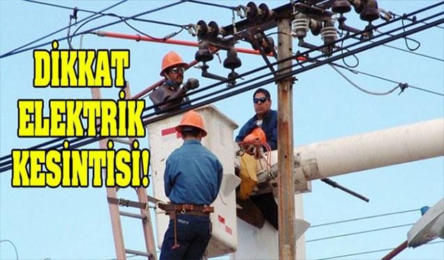 Dört ilçede elektrik kesintisi olacak