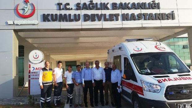 Kumlu Devlet Hastanesi tam donanımlı Ambulansla hizmet verecek