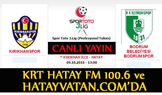 Kırıkhanspor 0-1 Bodrumspor