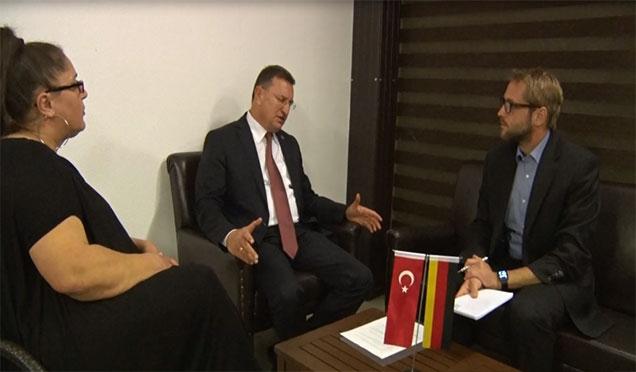 Başkan Savaş Aalener Nachrichten Gazetesine konuştu