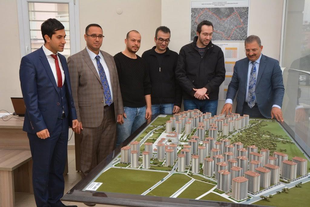 Başkan Kimyeci Kentsel Dönüşüm Bilgilendirme Ofisine ziyarette bulundu