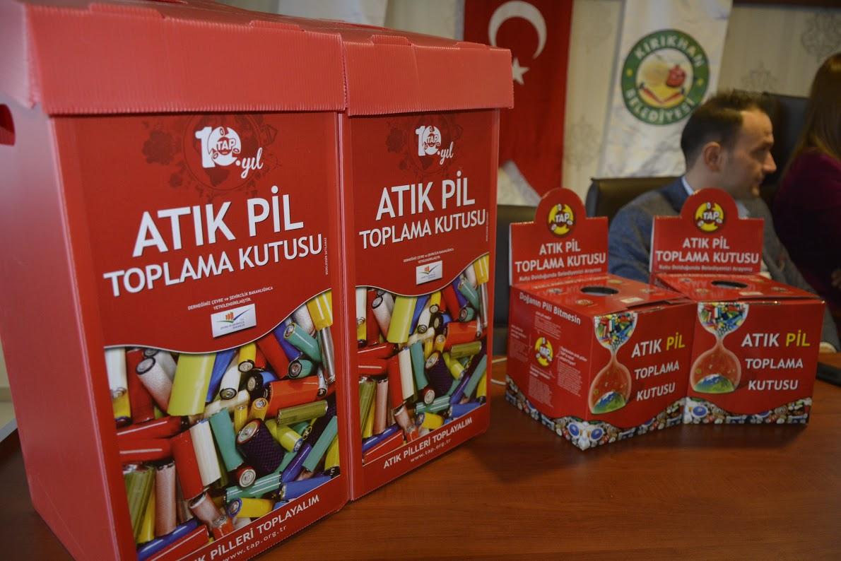 Kırıkhan'da Geleneksel Okullar arası Atık Pil Toplama Yarışması düzenleniyor