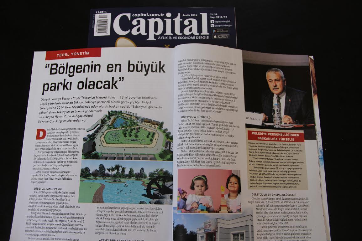 Başkan Toksoy Capital Dergisi'ne konuk oldu