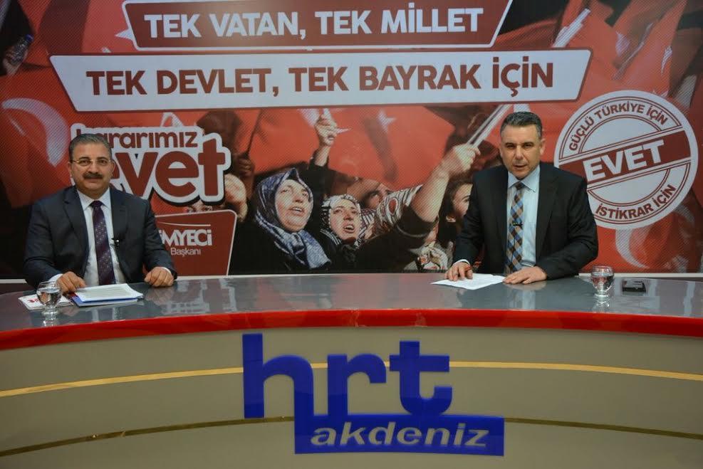 Başkan Kimyeci HRT'de 'Demokrasi Bulvarı' programının canlı yayın konuğu oldu