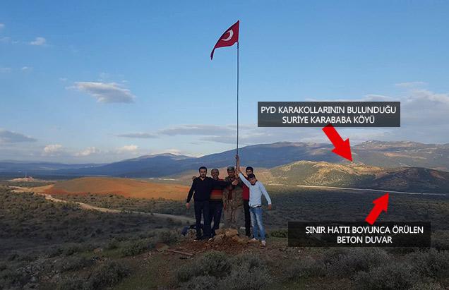 Hatay sınırında bulunan PYD Karakolları bombalanıyor