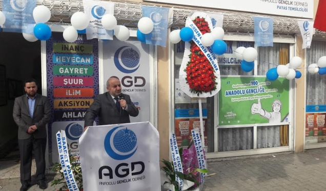 Anadolu Gençlik Derneği (AGD) Payas Temsilciliği yeni binasının açılış yapıldı