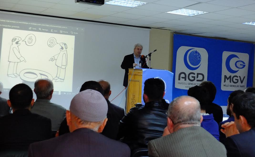 """AGD Hatay'da """"Medya ve Algı Yönetimi"""" konferansı düzenledi"""