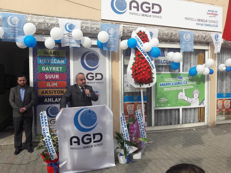 Payas Anadolu Gençlik Derneği Temsilciliği yeni binasının açılış yapıldı