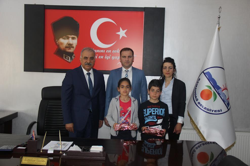 Samandağ Belediyesi'inde 23 Nisan devir teslim töreni