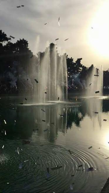 Hidro Park'ın açılışında meşale sürprizi