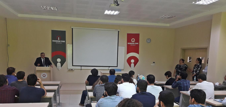 Çalışkan, İskenderun Teknik Üniversitesi öğrencilerine 'Bir markalaşma öyküsü'nü anlattı